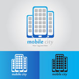 Mobile City Logo Stock Photo