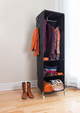 Mobile clothes organizer in a room Stock Photos