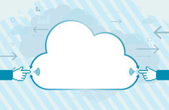 Mobile Cloud Connection with Copyspace Royalty Free Stock Photos