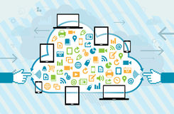Mobile Cloud Connection Stock Images