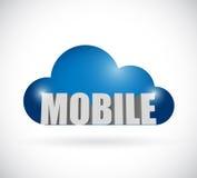 Mobile cloud illustration design Stock Photography