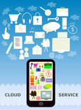 Mobile cloud service Royalty Free Stock Photos
