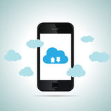 Mobile Cloud Smartphone Stock Images