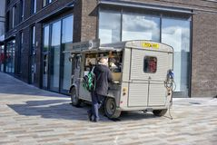 Mobile Coffee Shop Parked on Pavement stock photos