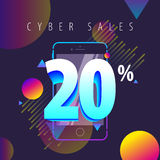 Mobile color full offers, sales and discounts Royalty Free Stock Image