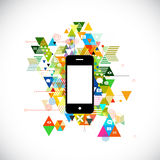 Mobile and colorful geometric graphic template for corporate bus Royalty Free Stock Photos