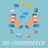 Mobile commerce Royalty Free Stock Photo