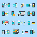 Mobile Commerce Icon Set Royalty Free Stock Images