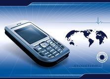 Mobile communication banner Stock Photo