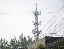 Mobile communication base station Stock Image