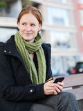 Mobile Communication in the City Stock Image