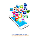 Mobile communication design Stock Images