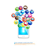 Mobile communication design Royalty Free Stock Photography