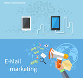 Mobile Communication and E-mail Marketing Stock Photography
