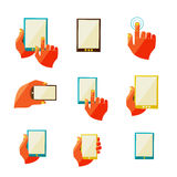 Mobile communication flat icons Royalty Free Stock Photo