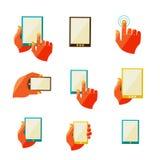 Mobile communication flat icons. Vector illustration, eps 10 Royalty Free Stock Photo