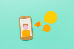Mobile communication and marketing cocnept Stock Image