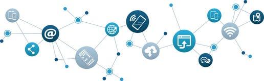 Mobile communication / social media concept - vector illustration vector illustration