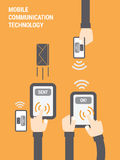 Mobile Communication Technology Illustration Stock Photo