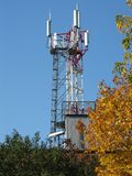 Mobile communication tower Stock Image