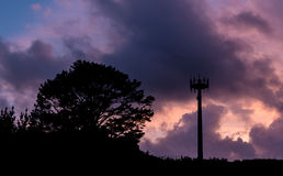 Mobile Communications Tower Royalty Free Stock Photography