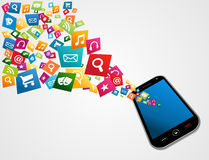 Mobile computer applications Royalty Free Stock Images