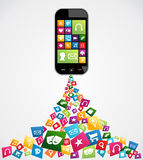 Mobile computer applications Stock Image