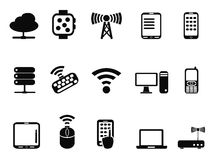 Mobile computer device network icons Stock Photos