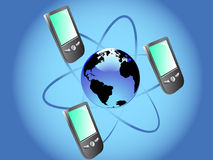 Mobile comunication Royalty Free Stock Photos