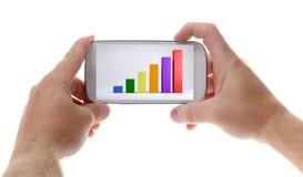 Mobile con il diagramma Fotografia Stock
