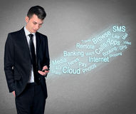 Mobile concept Stock Photography