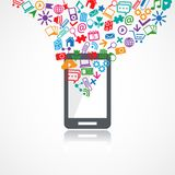 Mobile conceptual icons Royalty Free Stock Image