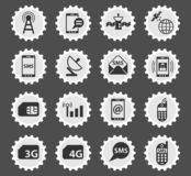 Mobile connection icon set. Mobile connection vector icons for web and user interface design vector illustration