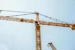 Mobile construction crane boom arm Stock Photo