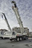 Mobile construction crane Stock Images