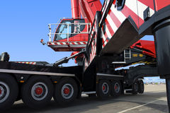 Mobile crane. A huge - the world's biggest - mobile crane Stock Image