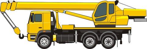 Mobile crane. On a truck base Royalty Free Stock Photos