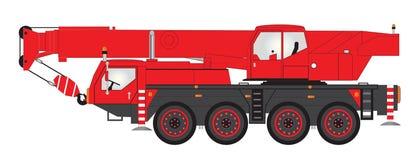 Mobile Crane royalty free illustration