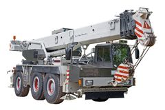 Mobile crane stock image