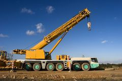 Mobile crane Royalty Free Stock Photo