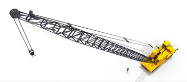 Mobile crane against a white background. Computer generated 3D illustration with a mobile crane against a white background Stock Photos