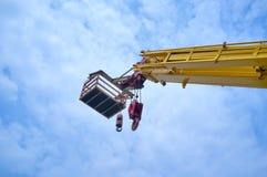Mobile crane Royalty Free Stock Photos