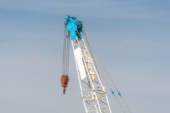 Mobile crane boom with hook Royalty Free Stock Photography