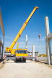 Mobile crane. In the  construction site Stock Images