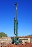Mobile crane. On a construction site Stock Photo