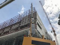 Mobile crane in construction site. At thailand Royalty Free Stock Photography