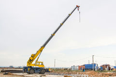 Mobile crane at construction site Royalty Free Stock Images