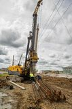 Mobile crane on Construction site. Tyumen. Russia Stock Images