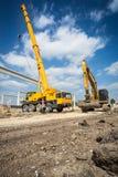 Mobile crane Stock Photography