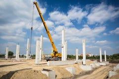 Mobile crane Stock Image
